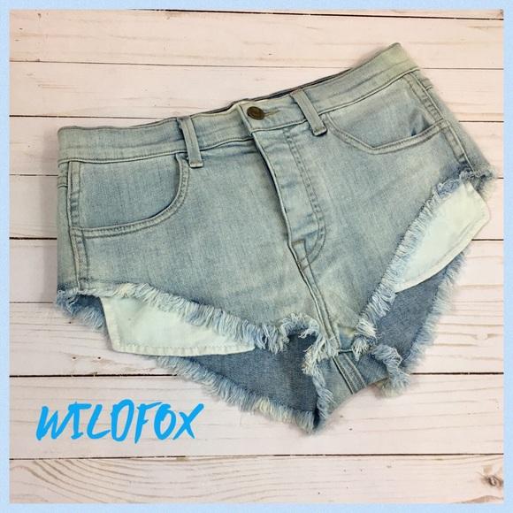 363421abff Wildfox Shorts | High Rise Beach Butt Denim Size 27 | Poshmark